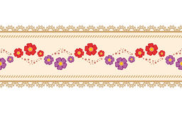 Flower ribbon Stock Photos