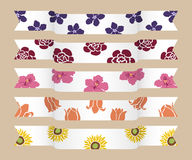 Flower ribbon Royalty Free Stock Images