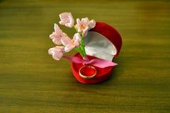 Flower ribbons Stock Images