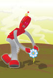 Flower-Robot Royalty Free Stock Photos