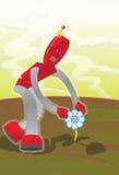 Flower-Robot royalty free stock photos