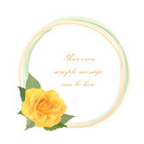 Flower rose frame Royalty Free Stock Images
