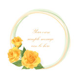 Flower Rose greeting frame with copy space Royalty Free Stock Photo