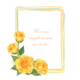 Flower Rose greeting frame with copy space Stock Photography