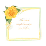 Flower Rose greeting frame with copy space Stock Photo