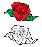 Flower. Roses in tattoo style Stock Image