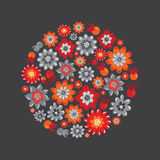 Flower round decore Royalty Free Stock Images