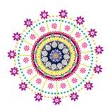 Flower round ornament. Colorful flower pattern illustration design Stock Photo