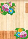 Flower Rustic Background Stock Image