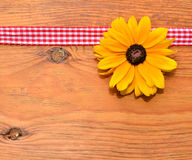 Flower Rustic wooden Stock Photography