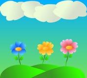 Flower& x27; s背景 向量例证