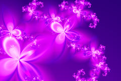 Flower's Dreamy Rain. A pink flower's rain on dreamy atmosphere drawning in fractal art Royalty Free Stock Photos