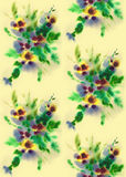 Flower's seamless texture. Seamless texture with watercolor drawing of flowers stock illustration