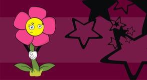 Flower sad cartoon funny background6 Royalty Free Stock Image