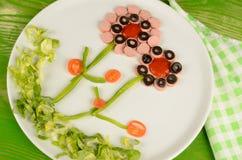 Flower salad Royalty Free Stock Photo
