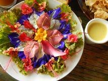 Flower salad Stock Images