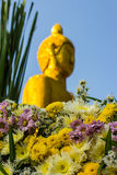 Flower scene and Buddhas Royalty Free Stock Photo