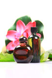 Flower scent perfumes Stock Images