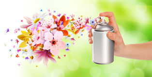 Flower-scented room sprays and flowers from inside - 2 Stock Images