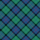 Flower of scotland tartan seamless diagonal pattern fabric textu Stock Image