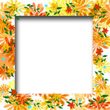 Flower scrapbook frame Royalty Free Stock Images