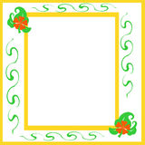 Flower scrapbook frame Royalty Free Stock Photography