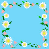 Flower scrapbook frame Stock Photos
