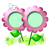 Flower scrapbook page Royalty Free Stock Images
