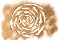 Flower sculptured with sand Royalty Free Stock Photos
