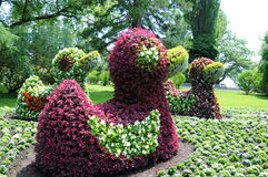 Flower sculptures Royalty Free Stock Photography