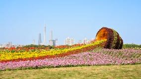 Flower sea in flower city Stock Image