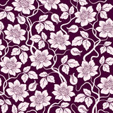 Flower seamless background Stock Photo