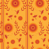 Flower seamless background Royalty Free Stock Images