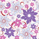 Flower seamless background Stock Image