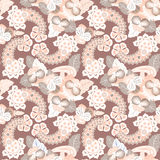 Flower seamless background. Abstract ornament flower lily texture. Stock Photography