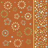 Flower seamless background design in vector. Seamless form backdrops for the design of fabrics and wallpapers Stock Photos