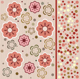 flower seamless background design in vector Stock Images