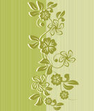 Flower seamless background design in vector Royalty Free Stock Images