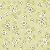 Flower seamless background design in vector. Floral seamless backgrounds for design of fabrics and wallpapers in vector Royalty Free Stock Photography