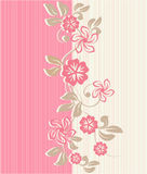 Flower seamless background design in vector. Floral seamless backgrounds for design of fabrics and wallpapers Stock Photos