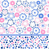 Flower seamless background design in vector. Floral seamless backgrounds for design of fabrics and wallpapers Royalty Free Stock Photography