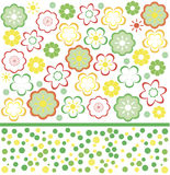 Flower seamless background design in vector. Floral seamless backgrounds for design of fabrics and wallpapers Stock Photography