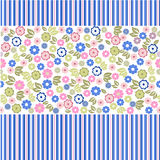 Flower seamless background design in vector. Floral seamless backgrounds for design of fabrics and wallpapers in vector Stock Images