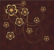 Flower seamless background design in vector. Illustration drawing of beautiful flower seamless background Royalty Free Stock Photos