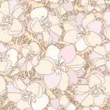 Flower seamless background. Flourish backdrop Stock Photos