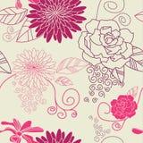 Flower seamless background purple Royalty Free Stock Photo