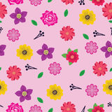 Flower Seamless Background. Seamless background with various flower design Vector Illustration