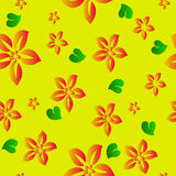Flower seamless background. Vector Royalty Free Stock Images
