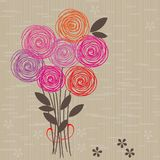 Flower seamless background in vector. Floral seamless backgrounds for design of fabrics and wallpapers Royalty Free Stock Photos
