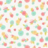 Flower seamless background. Vintage floral pattern Stock Photos